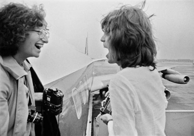 Annie Liebowitz and Mick Jagger